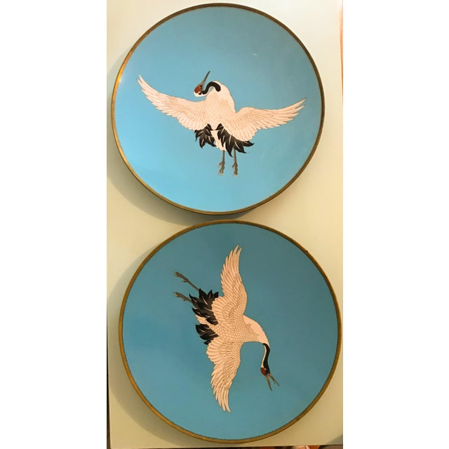 Large Turquoise Bird Platters - a Pair For Sale In Los Angeles - Image 6 of 6