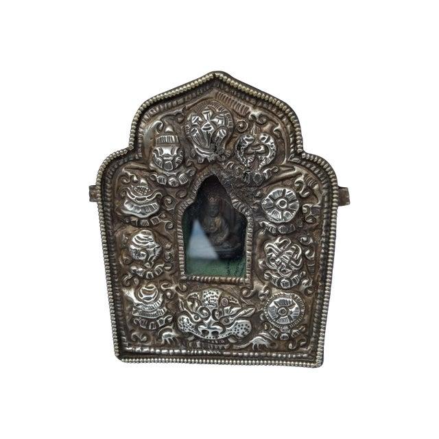 Vintage Traveling Silver Buddhist Shrine - Image 1 of 7