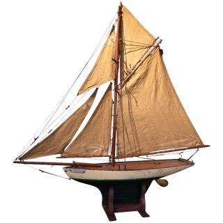1900s English Pond Yacht For Sale
