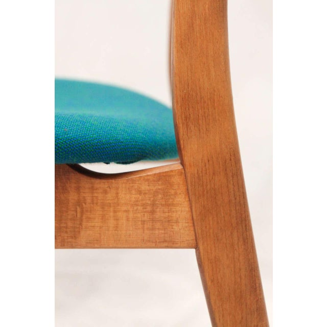 Fabric Set of 8 Hans Wegner CH-30 Dining Chairs For Sale - Image 7 of 10