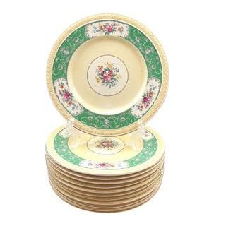 Antique J&g Meakin Sol Ware Dinner Plates - Set of 12