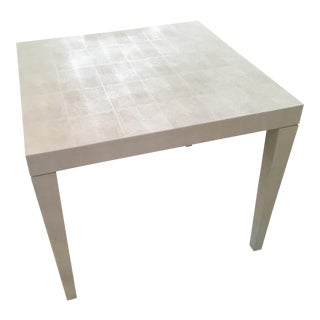 Attractive White Faux Shagreen Games Table