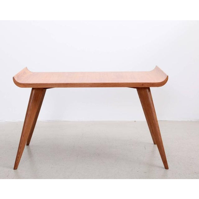 Spanish Spanish Modernist Pagoda Coffee or Side Table in Oak by Manuel Barbero 1953 For Sale - Image 3 of 5