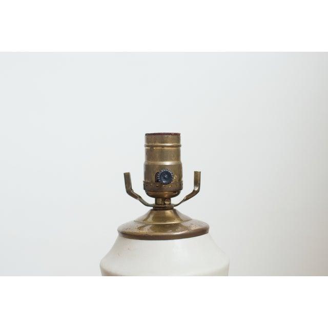 Vintage Hourglass Glaze Drip Ceramic Lamp - Image 2 of 6