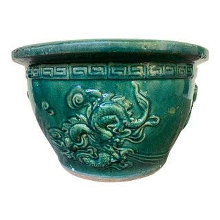 Jade Dragon Foo Dog Planter For Sale
