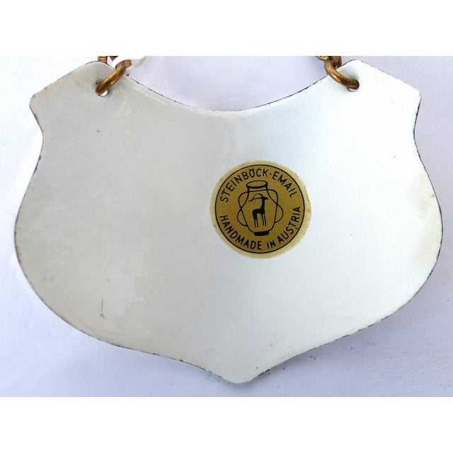 Traditional Austrian Hand-Enameled Hanging Sherry Decanter Label For Sale - Image 3 of 6
