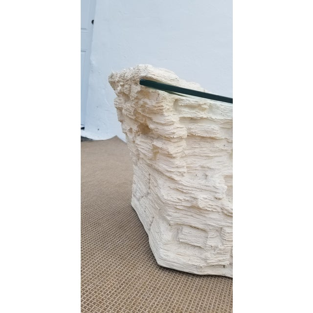 Sirmos Faux Rock Plaster Side Tables - a Pair For Sale - Image 9 of 13