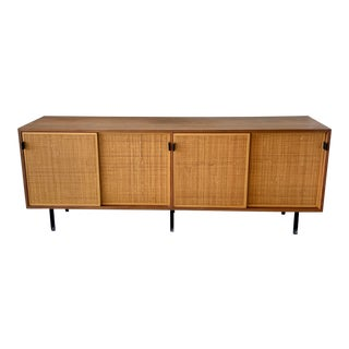 Mid Century Knoll Walnut Credenza For Sale