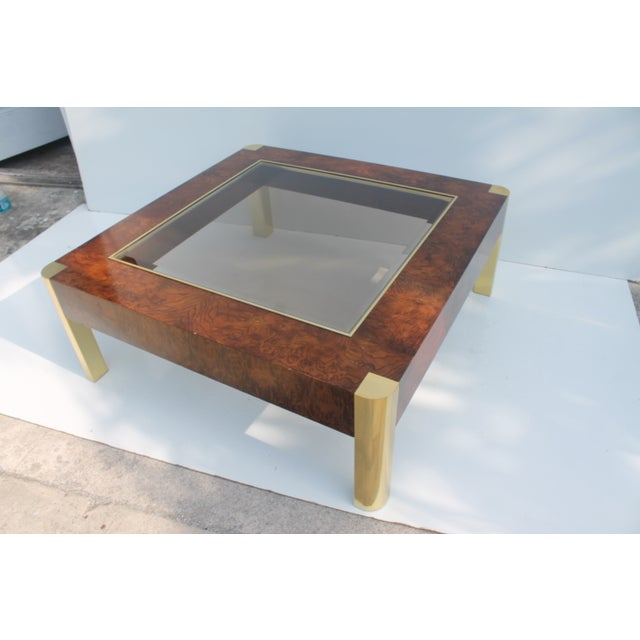 Century Furniture Burl & Brass Coffee Table - Image 6 of 10