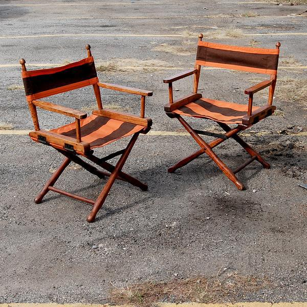 Gold Medal Manufacturing Company Director's Chairs - A Pair For Sale - Image 4 of 4