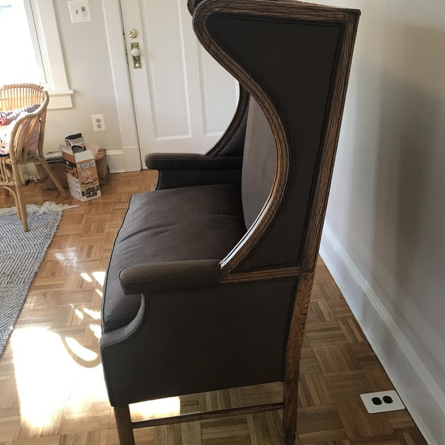 Modern Double Wide High Back Chair For Sale - Image 4 of 12