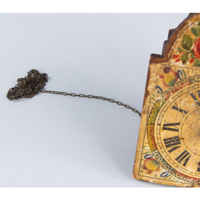 Yellow French Foret Noire Clock Painted Face, 19th Century For Sale - Image 8 of 13