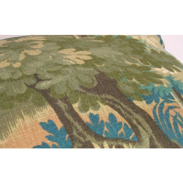 2020s Verdure Print Linen Large Pillow Cover For Sale - Image 5 of 10