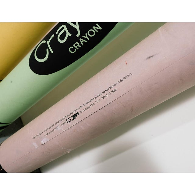 1970s Vintage Think Big Oversized Crayons For Sale - Image 5 of 9