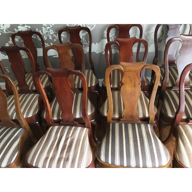 Armless Queen Anne Style Dining Chairs - Set of 12 - Image 3 of 6
