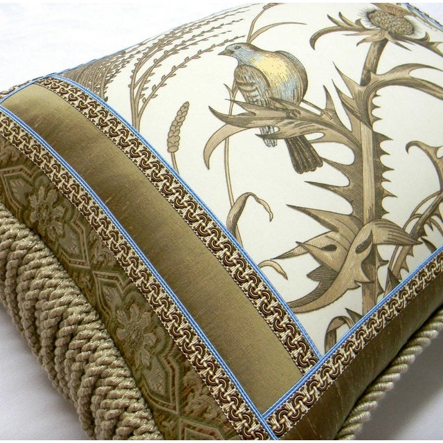 Traditional Brunschwig Fils Thistle Designer Accent Pillow For Sale - Image 3 of 3