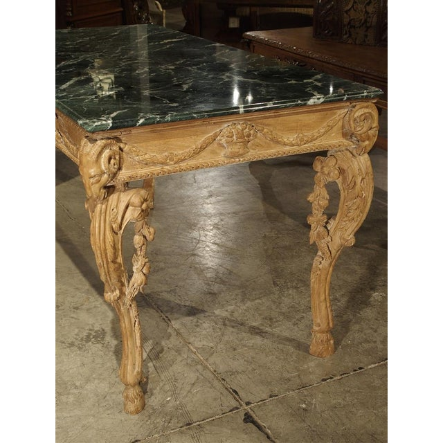 French Antique English Limewood Console Table, Circa 1785 For Sale - Image 3 of 11