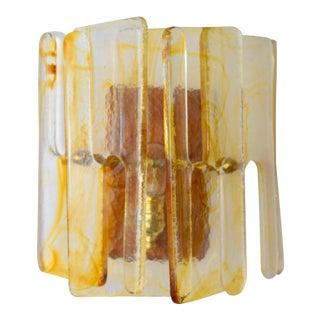 Murano Interlocking Glass Sconces by Mazzega For Sale