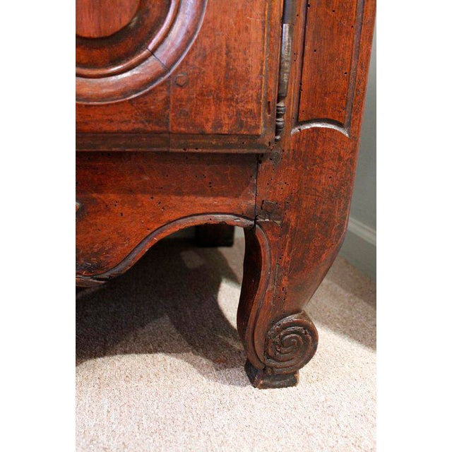 Brown French Provençal Fruitwood Buffet With Carved and Pierced Skirt For Sale - Image 8 of 10