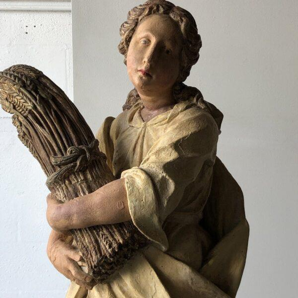 Mid 20th Century Monticello Studios Polychrome Plaster Figure For Sale - Image 5 of 7