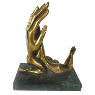 Surrealist Bronze Sculpture by Russian Sculptor Gritsenko For Sale