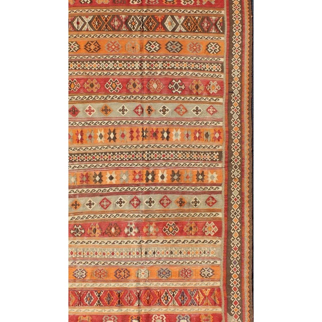 Keivan Woven Arts, S12-0601, 1930's Antique Moroccan Kilim Rug - 5′ × 9′10″ For Sale - Image 4 of 11