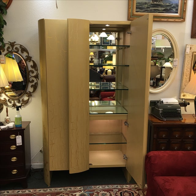Custom Art Deco Gold & Ivory Bar or Display - Image 4 of 10