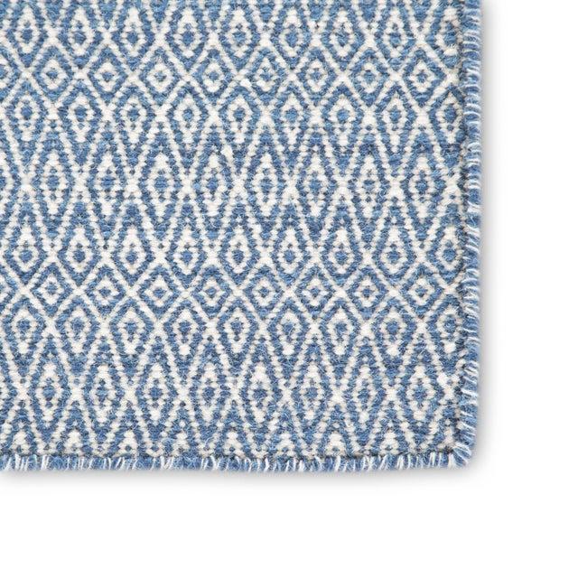 Contemporary Jaipur Living Eulalia Handmade Geometric Blue & Ivory Area Rug - 9′ × 12′ For Sale - Image 3 of 6