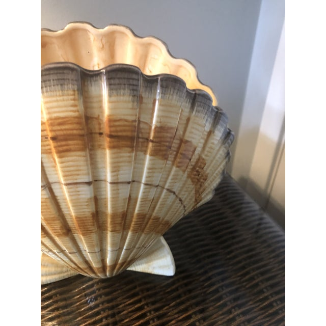 Vintage Fitz and Floyd Shell Vase For Sale - Image 10 of 11
