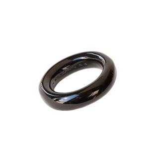 Trina Turk Resin Black Bangle Bracelet For Sale