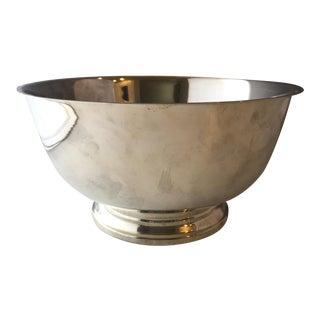 Silverplate Revere Bowl With Removable Liner