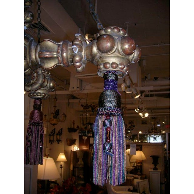 19th Century Giltwood Chandelier with Tassels For Sale - Image 4 of 6