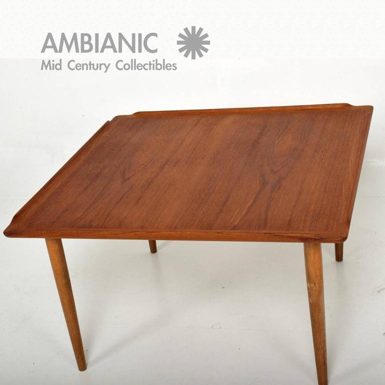 teak coffee table. Selig Danish Modern Teak Coffee Table - Image 4 Of 8
