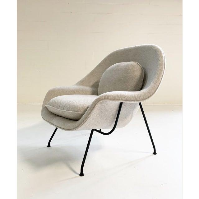 Knoll Eero Saarinen Womb Chair in Loro Piana Alpaca Wool For Sale - Image 4 of 13