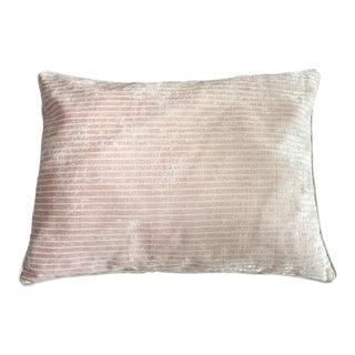 Pale Pink Chenille Velvet Pillow
