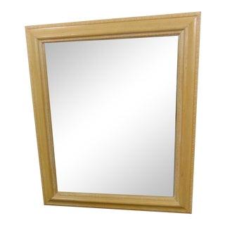 Washed Oak Ogee Framed Mirror For Sale