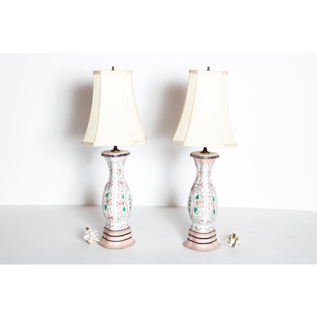 Pair of Late 18th Century Chinese Porcelain Vases as Lamps For Sale - Image 4 of 13