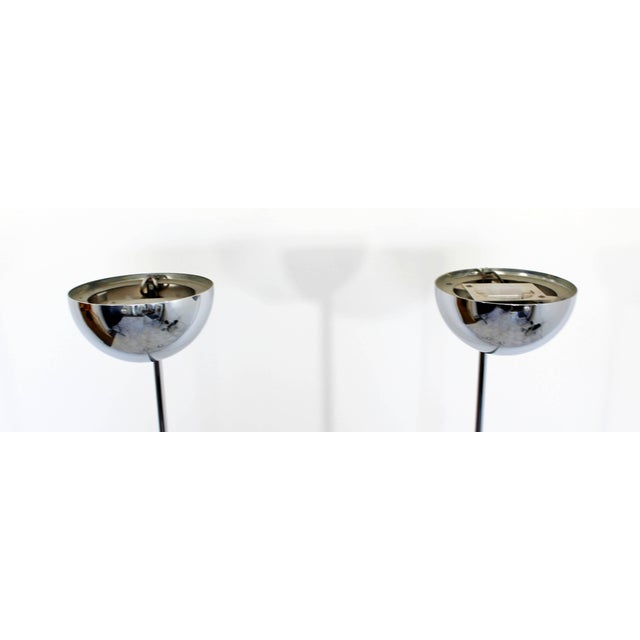 Robert Sonneman Mid-Century Modern Robert Sonneman Pair of Chrome Uplight Floor Lamps, 1970s For Sale - Image 4 of 7