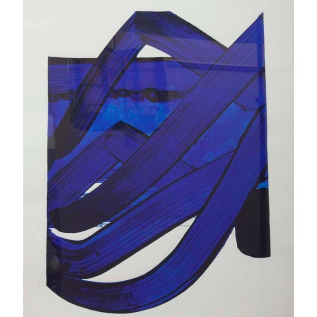 Wood Lithograph by Pierre Soulages (B. 1919) From the Official Arts Portfolio of XXIV Olympiad For Sale - Image 7 of 10