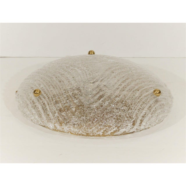 1960s Round Domed Flush Mount by Hillebrand For Sale - Image 5 of 8