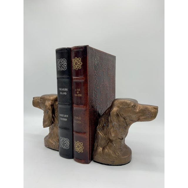 Bronze Vintage Bronze Gilt Sporting Dog Bookends - a Pair For Sale - Image 8 of 10