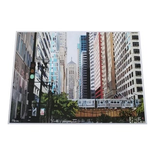 """Josh Moulton Limited Edition """"Looking Down LaSalle Street"""" Giclee Print For Sale"""