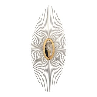 Regina Andrew Modern Brass Finished Starburst Oval Sedona Sconce For Sale