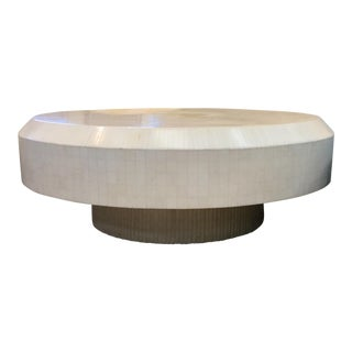 Mid-Century Modern Bone Revolving Coffee Table For Sale