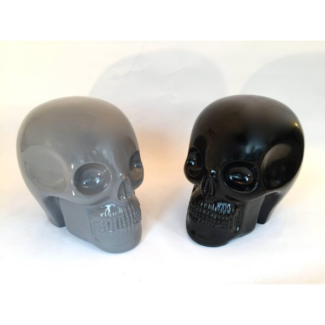 Stool Skull in Grey Ceramic by Antonio Cagianelli, Contemporary For Sale - Image 11 of 12