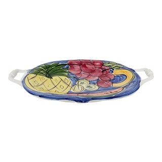 Vintage Large Italian Serving Platter by Antica Fornace For Sale
