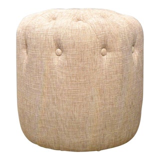 Early 21st Century Vintage Button Tufted Ottoman For Sale