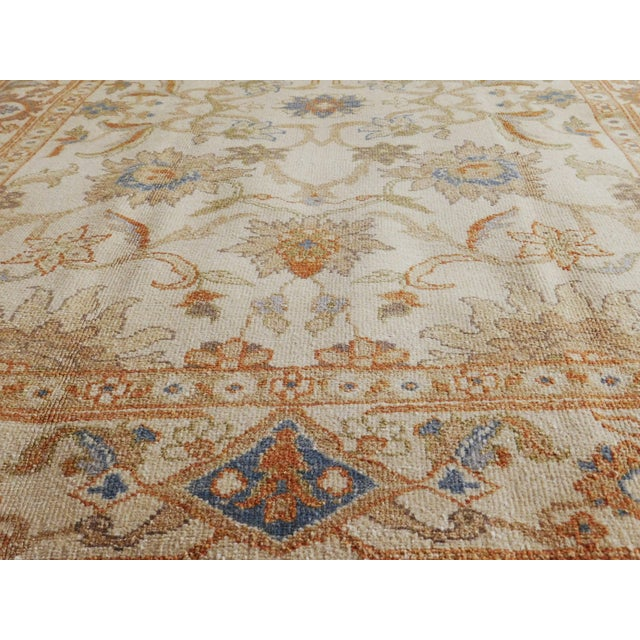 Beige Hand Knotted Chinese Ziegler Rug - 4′ × 6′ For Sale - Image 8 of 10