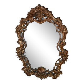 Rococo Style Oval Wall MIrror For Sale