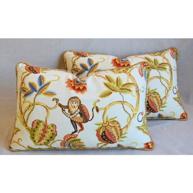 "Cotton P. Kaufmann Bazaar Paradise Animal Feather/Down Pillows 26"" X 17"" - Pair For Sale - Image 7 of 13"